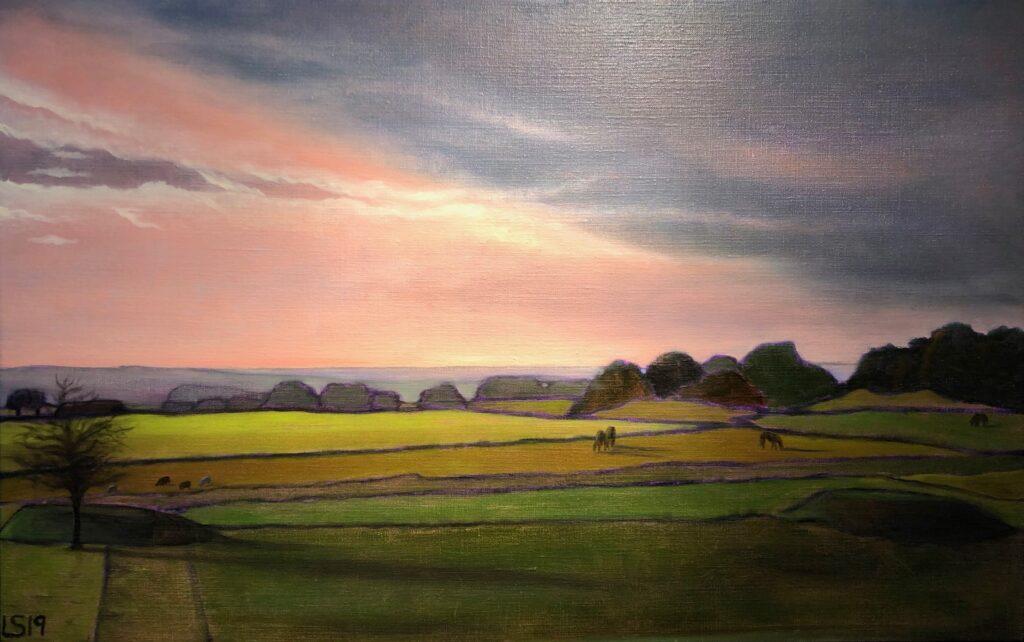 Målning av Lili Skarby